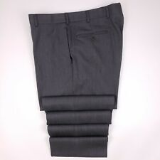 Brooks Brothers Madison Pants 36x32 Gray Flat Front Wool Trouser Mens Size Pant