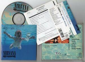 NIRVANA - Nevermind - 1991 JAPAN CD OBI ** FOO FIGHTERS