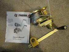 Thern Hand Winch Model #M4022Pb Spur Gear,w/Brake,1000 lb. with Brackets