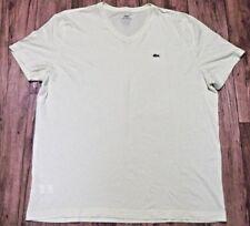 Lacoste V-neck T-shirt Men's Size 7 Yellow 100% cotton EUC XL