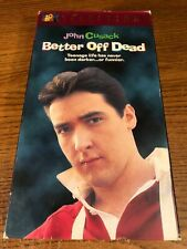 Better Off Dead Vhs Vcr Video Tape Movie John Cusack, Curtis Armstrong Used