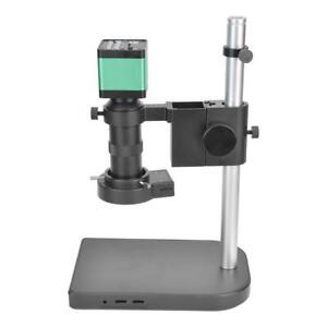 48MP HDMI USB Digital Industrial Video Microscope Camera w/ 40 LED Ring Lights a