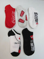 Coca-Cola Womens Ladies 5 Pack of No-Show Socks Size 9-11 Shoe Size 4-10