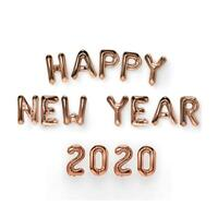 """2020 Happy New Year Number 16"""" Foil Balloon Eve Party Decor Merry Christmas Gift"""