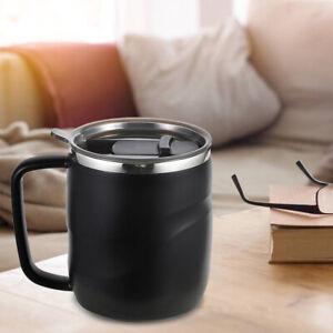 400ml Stainless Steel Insulated Coffee Mug with Sliding Lid Vacuum Travel Mug