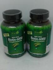 Irwin Naturals biotina - 6000 fuerza y protección de cabello y uñas x2 - 120 geles de suave