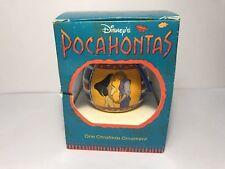Disney Pocahontas Yellow Satin Ball Christmas Ornament