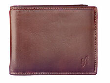Starhide Uomo Vera Pelle Forte denaro Clip carta di credito titolare Wallet 820 Brown