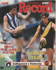Football Record 1994 Round 3 COLLINGWOOD vs BULLDOGS Pies by a point EX cond