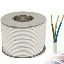 White Round Flexible Cable 2 3 4 5 Core 0.75mm 1mm 1.5mm 2.5mm Flex Electric