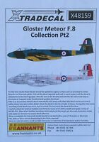 Xtradecal 1/48 X48159 Gloster Meteor F.8 Pt 2  Decal Sheet