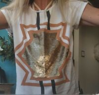 """Sass & Bide """"The Anarchy""""  Embellished Tee Top sz XS  rrp $180"""