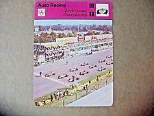 Monza Italy World Drivers Championship Formula 1 Auto Racing Sportscaster Card