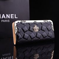 100% New Fashion Women Patent Leather Clutch Wallet Long PU Card Purse Handbag