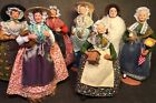 Nice Lot Of 7 Santon De Provence Doll C. Escoffier Made In France Clay Dolls