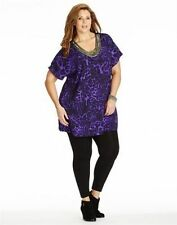 Autograph Polyester Animal Print Short Sleeve Tops & Blouses for Women