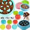 Slow Feeder Dog Bowl Anti Bloat Non Skid Food Dish Water Feeding Pet Cat Puppy