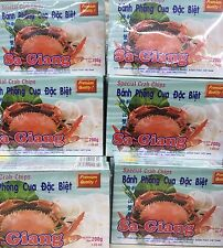 Sa Giang Giant Crab Flavored Crispy Shrimp Chips Premium Quality 6-pack