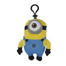 Despicable Me - Stuart One Eye Minion 5-inch Plush Coin Clip Key Chain Toy Bag
