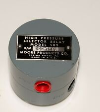 Moore high-select pneumatic relay model 58S, new no box old, tested 1-y warranty