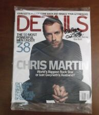 DETAILS MAGAZINE OCTOBER 2004 CHRIH MARTIN FASHION ROCKS BEYONCE KNOWLES NEW