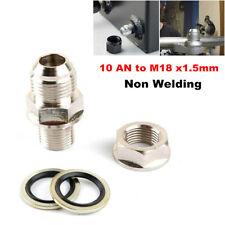 10 AN to M18 x1.5mm Turbo Oil Pan Adaptor Bung Return Drain Plug Non Welding 1PC