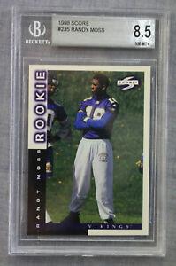Randy Moss HOF ROY Marshall Vikings 1998 Score Football Rookie RC #235 BGS 8.5