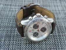Swiss Army Military Wenger Alpine Silver CHRONOGRAPH Men's Watch
