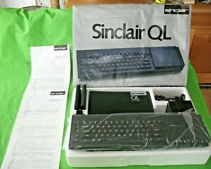 Original old vintage 1980's boxed SINCLAIR QL Personal Computer with software