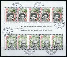 Monaco 1980 souvenir sheet Europa USED Mi block 16 CV $8.80 180124069