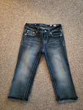 Miss Me Bermuda Butterfly Capri Jeans Size Girls Youth 16 Worn Once!