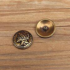 Johnleather Craft Zinc Alloy Skull Queen Head Coin Conchos Antique Brass Finish