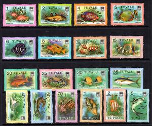 Tuvalu - 1979 Fish set of 18 stamps to $5 MNH (67G)