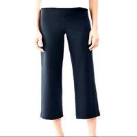 J. Jill Dark Navy Blue Cropped Elastic Waist Stretch J.Jill Pants Size 12