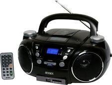 JENSEN Cd750 Black Portable Cd Player Am Fm Radio Digital PTJS750 CD PLAYER NEW