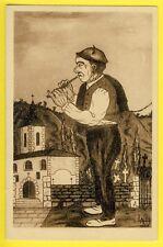 cpa Rare Illustrateur LAM TYPE BASQUE Joueur de FIFRE Flute Escriba Vasco Flauta