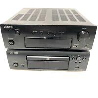 DENON DRA-F107 DAB FM/AM Stereo Receiver & Denon DCD-F107 CD Player & Speakers