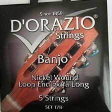 D'orazio  Banjo Nickel Wound Loop End Extra Long