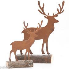 Weihnachtsartikel Hirsch klein Rentier Tierfigur Dekofigur Herbstdekoration
