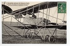 AVIATION AUBE CPA 10 CAMP DE MAILLY escadrille capitaine Bordage sur bip. farman