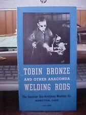 Tobin Bronze & Other Anaconda Welding Rods Brochure Pocket Size (Folder-1)