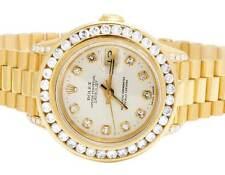 Ladies Rolex President 26MM Datejust 18K Yellow Gold 69178 Diamond Watch 3.5 Ct