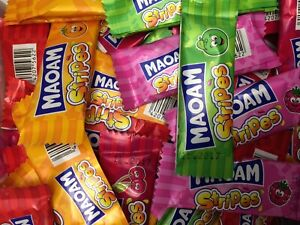 Bag of 50 HARIBO MAOAM STRIPES FRUIT CHEWS SWEETS KIDS PARTY CHOOSE YOUR FLAVOUR