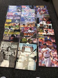 25 Different 1900 1991 1992 Beckett Baseball Card Monthly Bo Bonds Griffey Smith