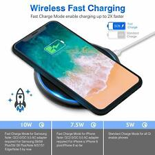 Qi Wireless 10W Fast Charger Dock Charging Pad For iPhone 8 8Plus SE  XR XS Max
