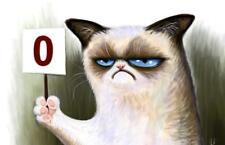 Grumpy Cat 0 24 x 14 Custom Yugioh Playmat Mtg Play Mat Pokemon