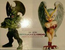 """Super Deformed DEVILMAN & SILENE non scale 5"""" unpainted Resin Kit  model anime"""