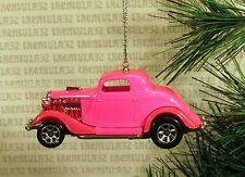 1934 FORD 3 WINDOW COUPE '34 PINK CHRISTMAS ORNAMENT XMAS