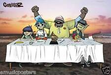 "GORILLAZ ""GROUP SITTING AT TABLE ON THE BEACH"" POSTER FROM ASIA - Damon Albarn"