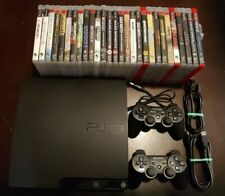 PlayStation 3 PS3 CECH-3001B Bundle Lot Console Cords Controller 28 Games Tested